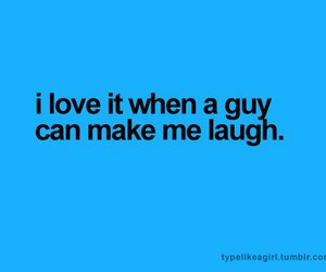 love, guy, and laugh image