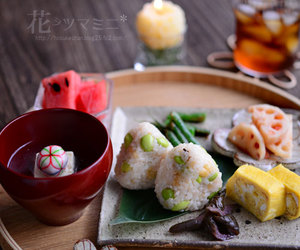 rice ball and 계란말이 image