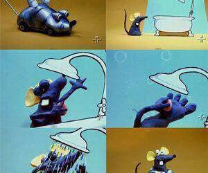 banheira, banho, and ratinho image