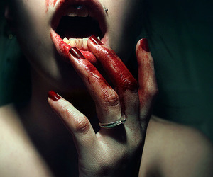blood, vampire, and red image