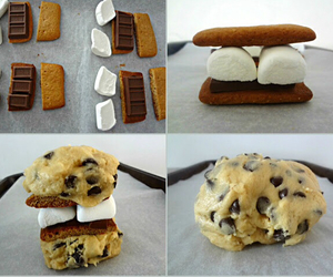 cookie, smores, and chocolate image