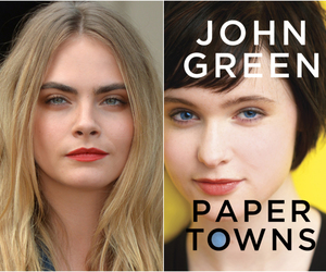 book cover, characters, and john green image