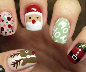 christmas, nails, and nail art image