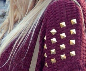 blond hair, girl, and knit image