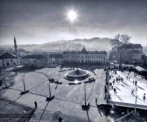 Bosnia, mosque, and winter image