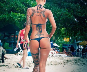 ink, sexy, and tattoo image