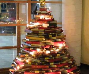 book, christmas, and christmas tree image