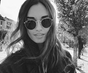 black and white, fashion, and ray ban image