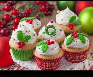 cakes, christmas, and colorful image