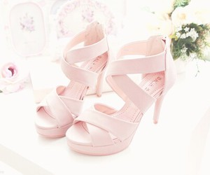 flowers, romantic, and shoes image