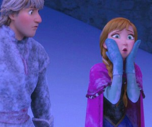 anna, frozen, and snow image