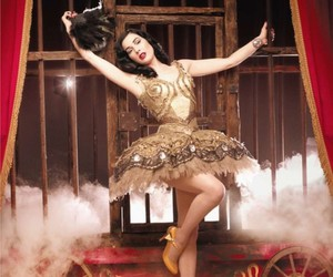 Dita von Teese, circus, and burlesque image