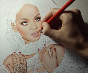 rihanna, drawing, and art image