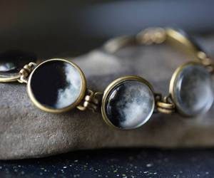 moon, bracelet, and jewelry image