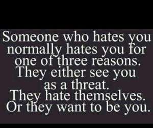 quotes, haters, and hate image