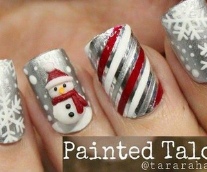 black, christmas, and nails image