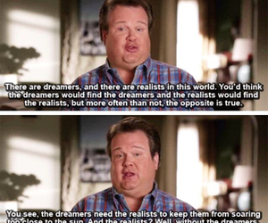dreamers, quote, and modern family image