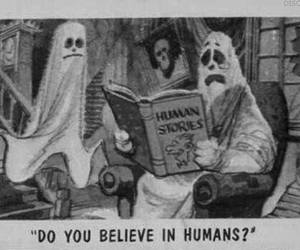 believe, horror story, and black and white image