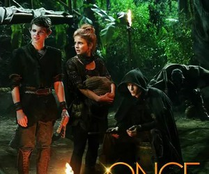 neverland, once upon a time, and peter pan image