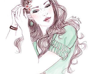 girl, pretty, and art image