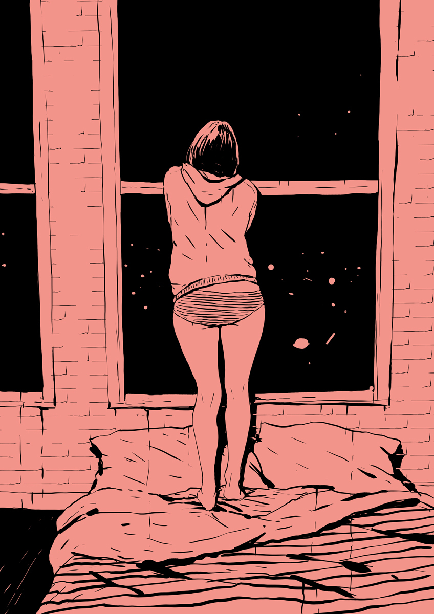 art, night, and stars image