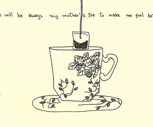 tea, drawing, and art image