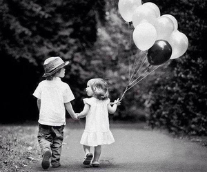 love, balloons, and kids image