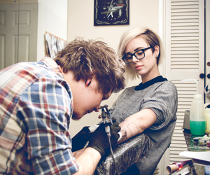 tattoo, girl, and boy image