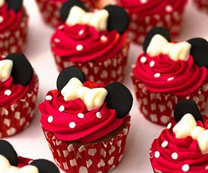 cupcake, food, and mickey mouse image