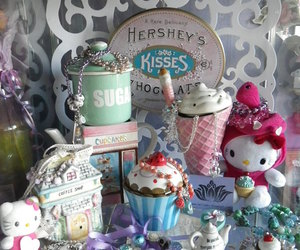 hello kitty, hershey kisses, and ice cream image