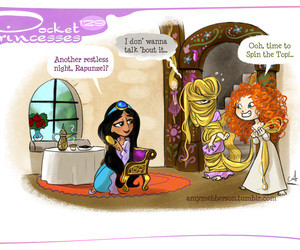 pocket princesses, disney, and rapunzel image