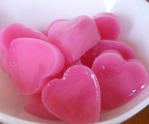 pink, hearts, and food image