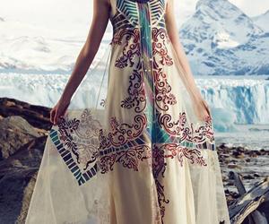 dress, boho, and style image