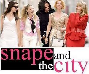 snape, sex and the city, and harry potter image