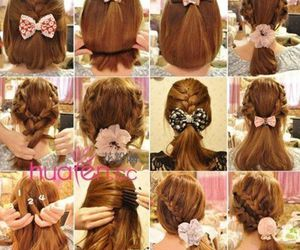 bow, tips, and updo image