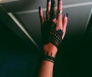 henna, rihanna, and tattoo image