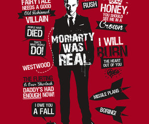 moriarty, sherlock, and quote image