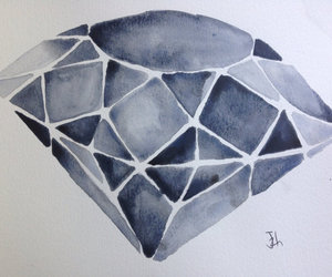 diamond and watercolor image