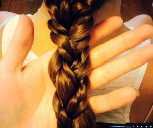 braid, hair, and brown hair image