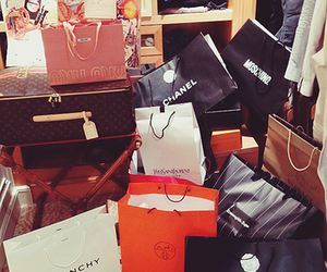 chanel, Givenchy, and shopping image