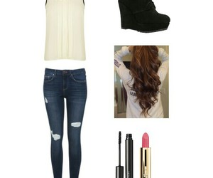 black, boots, and curls image
