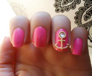 nails, anchor, and pink image