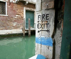 funny, lol, and fire exit image