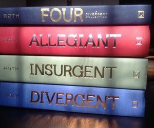 divergent, books, and insurgent image