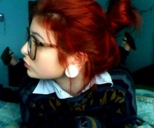 hair, Plugs, and red hair image