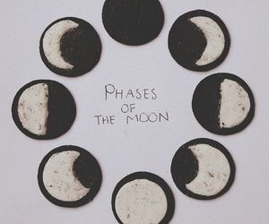 moon, oreo, and food image
