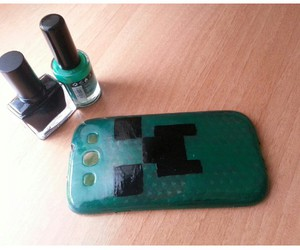 black, case, and green image