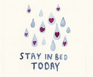 bed, rain, and text image
