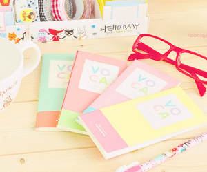 glasses, cawaii, and colorful image