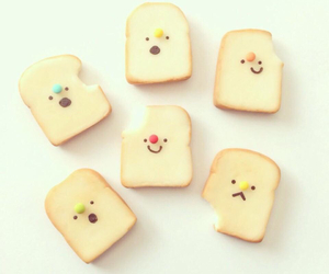 cawaii, cute, and bread image